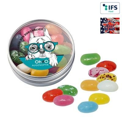Picture of CLEAR TRANSPARENT TIN with American Jelly Beans