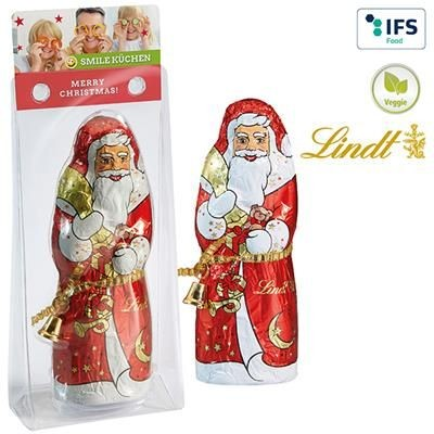 Picture of LINDT & SPRÜNGLI FATHER CHRISTMAS FATHER CHRISTMAS SANTA, HOLLOW, in Deep-drawn Clear Transparent Pl
