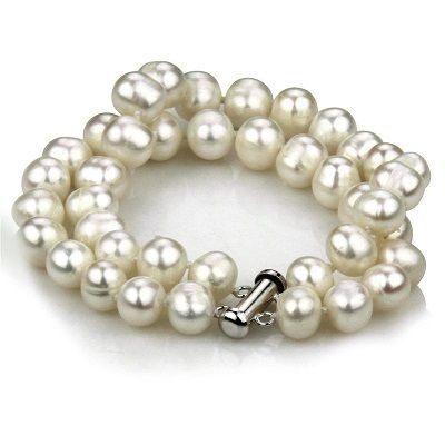 Picture of 9MM DOUBLE STRAND FRESHWATER PEARL BRACELET with 925 Silver Clasp