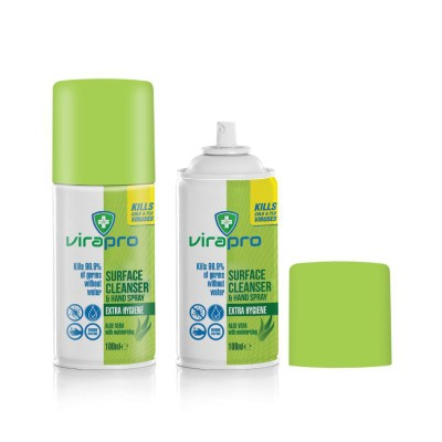 Picture of VIRAPRO 70% ALCOHOL SURFACE CLEANSER AND HAND SPRAY CAN