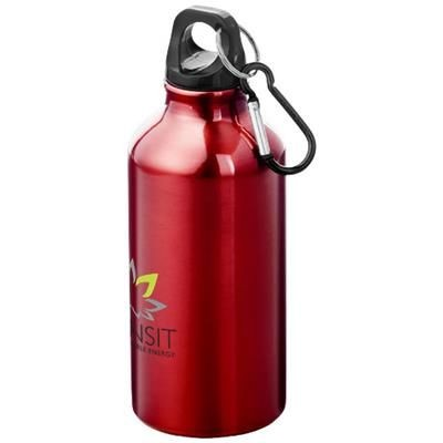 Picture of OREGON 400 ML SPORTS BOTTLE with Carabiner in Red