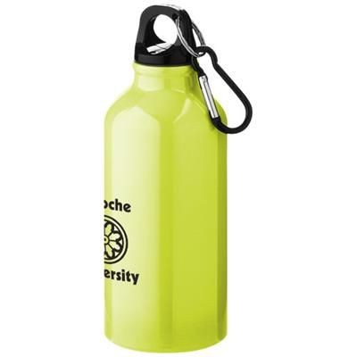 Picture of OREGON 400 ML SPORTS BOTTLE with Carabiner in Neon Fluorescent Yellow