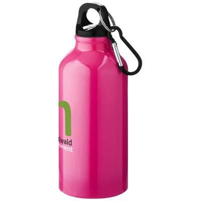 Picture of OREGON 400 ML SPORTS BOTTLE with Carabiner in Neon Fluorescent Pink