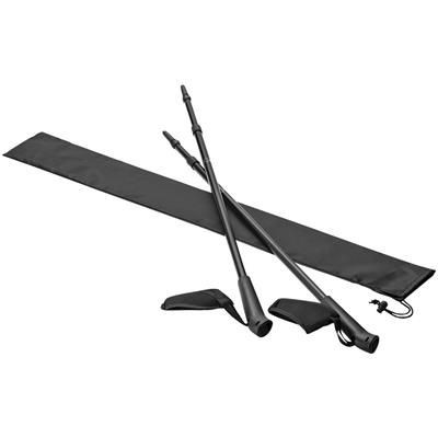 Picture of NITRA NORDIC WALKING STICK AND POUCH in Black Solid