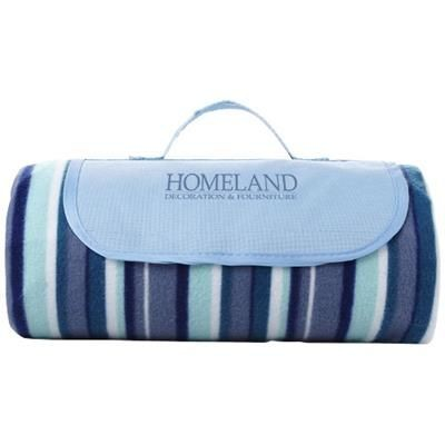 Picture of RIVIERA WATER-RESISTANT PICNIC OUTDOOR PICNIC BLANKET in White Solid-blue