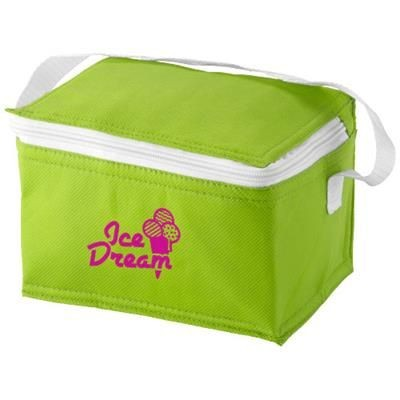 Picture of SPECTRUM 6-CAN NON-WOVEN COOL BAG in Apple Green