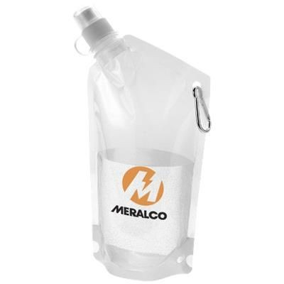 Picture of CABO 600 ML WATER BAG with Carabiner in Transparent Clear Transparent