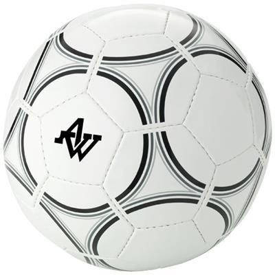 Picture of VICTORY SIZE 5 FOOTBALL in White Solid-black Solid