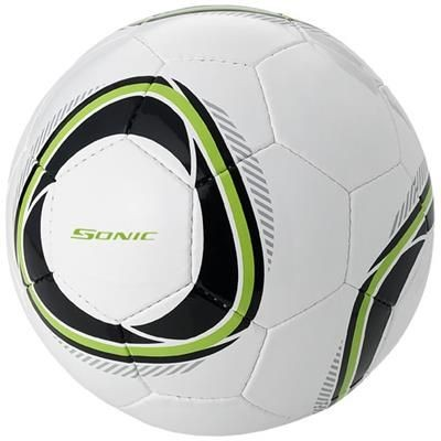 Picture of HUNTER SIZE 4 FOOTBALL in White Solid-black Solid