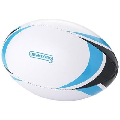 Picture of STADIUM RUGBY BALL in White Solid-blue