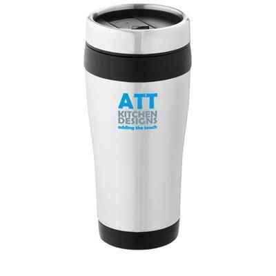 Picture of ELWOOD 410 ML THERMAL INSULATED TUMBLER in Silver-black Solid