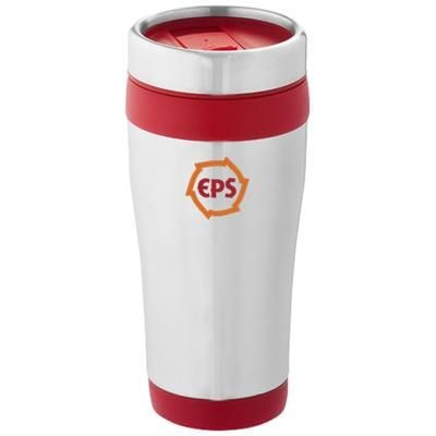Picture of ELWOOD 410 ML THERMAL INSULATED TUMBLER in Silver-red
