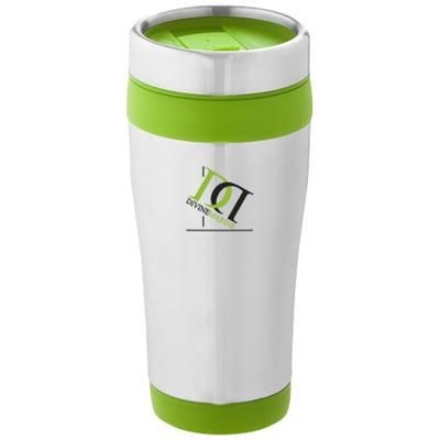 Picture of ELWOOD 410 ML THERMAL INSULATED TUMBLER in Silver-lime Green