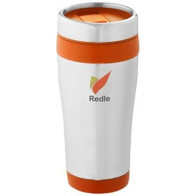 Picture of ELWOOD 410 ML THERMAL INSULATED TUMBLER in Silver-orange