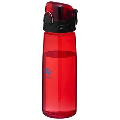 Picture of CAPRI 700 ML SPORTS BOTTLE in Clear Transparent Red