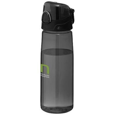 Picture of CAPRI 700 ML SPORTS BOTTLE in Clear Transparent Black