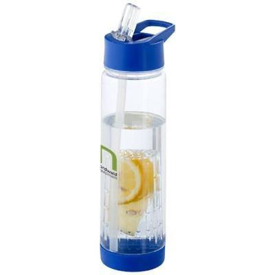 Picture of TUTTI-FRUTTI 740 ML TRITAN INFUSER SPORTS BOTTLE in Transparent-blue