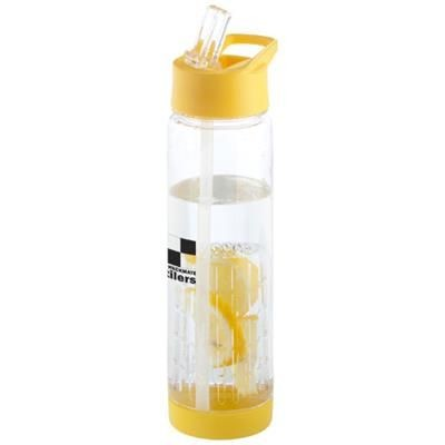 Picture of TUTTI-FRUTTI 740 ML TRITAN INFUSER SPORTS BOTTLE in Yellow-transparent