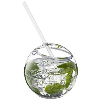 Picture of FIESTA BALL AND STRAW in Transparent Clear Transparent