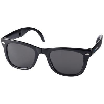 Picture of SUN RAY FOLDING SUNGLASSES in Black Solid