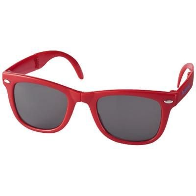 Picture of SUN RAY FOLDING SUNGLASSES in Red