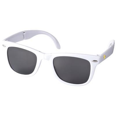 Picture of SUN RAY FOLDING SUNGLASSES in White Solid