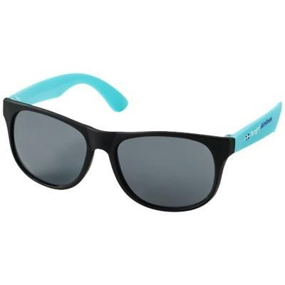 Picture of RETRO DUO-TONE SUNGLASSES in Aqua Blue-black Solid