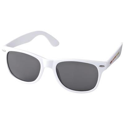 SUN RAY SUNGLASSES in White Solid