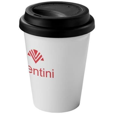 Picture of ZAMZAM 330 ML THERMAL INSULATED TUMBLER in White Solid-black Solid