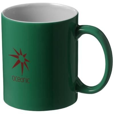 Picture of JAVA 330 ML CERAMIC POTTERY MUG in Green-white Solid