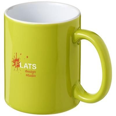 Picture of JAVA 330 ML CERAMIC POTTERY MUG in Lime-white Solid