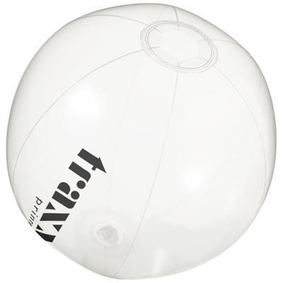 Picture of IBIZA CLEAR TRANSPARENT BEACH BALL in Transparent Clear Transparent