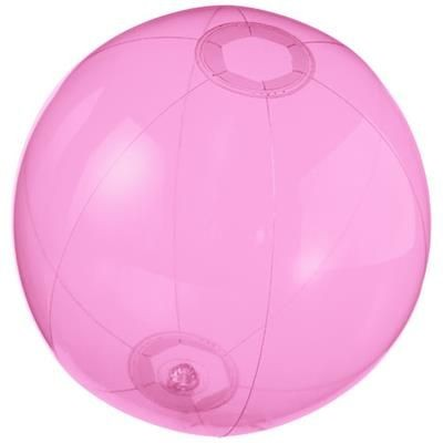 Picture of IBIZA CLEAR TRANSPARENT BEACH BALL in Pink