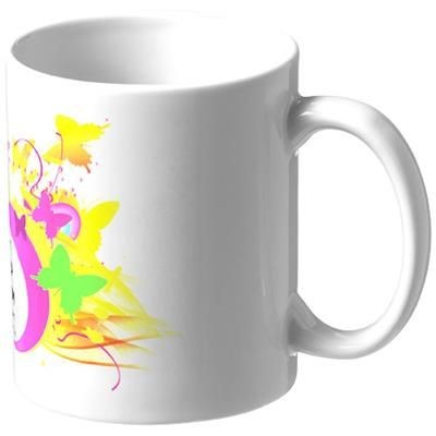 Picture of PIC 330 ML CERAMIC POTTERY SUBLIMATION MUG in White Solid