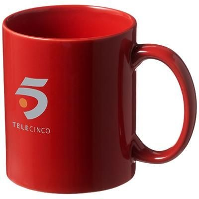 Picture of SANTOS 330 ML CERAMIC POTTERY MUG in Red