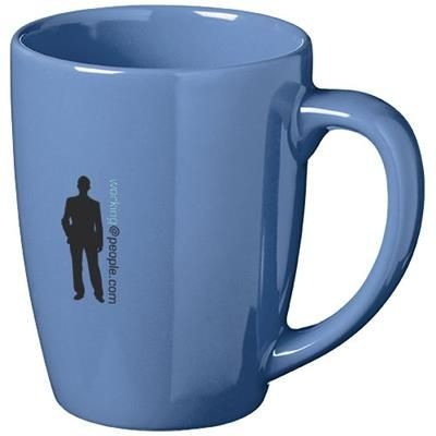 Picture of MEDELLIN 350 ML CERAMIC POTTERY MUG in Blue