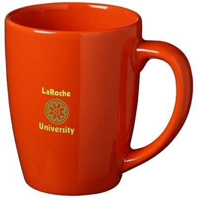 Picture of MEDELLIN 350 ML CERAMIC POTTERY MUG in Orange