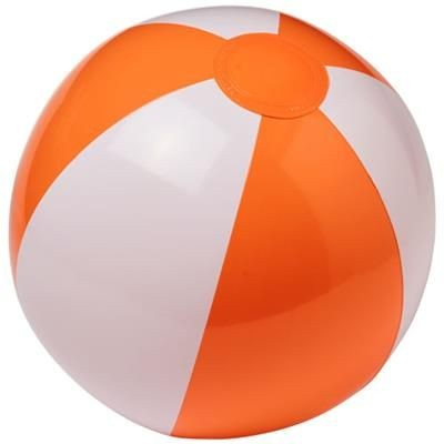Picture of PALMA SOLID BEACH BALL in White Solid-orange