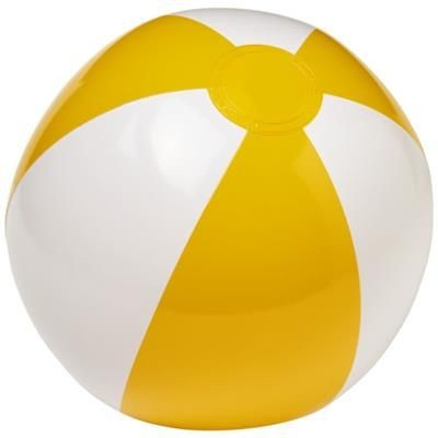 Picture of PALMA SOLID BEACH BALL in White Solid-yellow