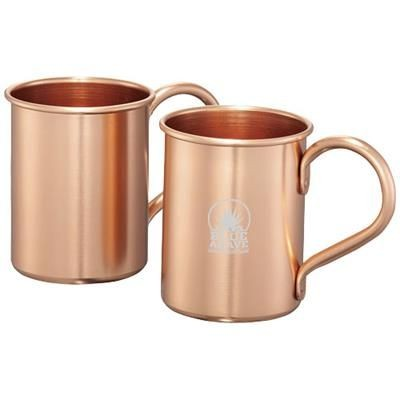 Picture of MOSCOW MULE 415 ML MUG SET GIFT SET in Copper