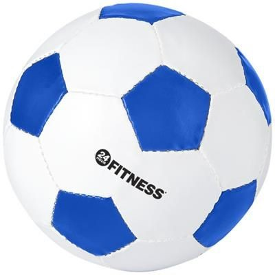 Picture of CURVE FOOTBALL in White Solid-royal Blue