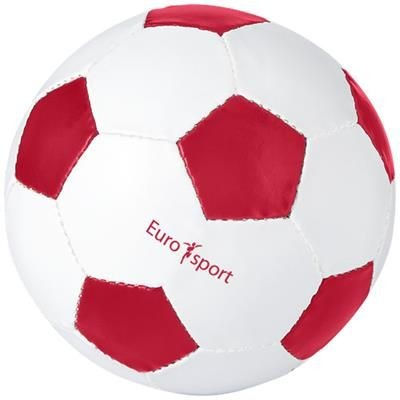 Picture of CURVE FOOTBALL in White Solid-red