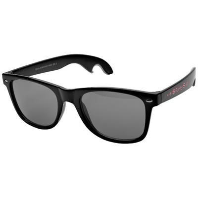 Picture of SUN RAY SUNGLASSES with Bottle Opener in Black Solid