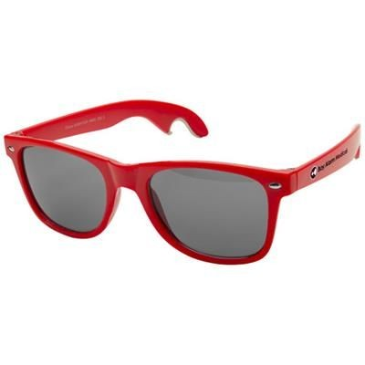 Picture of SUN RAY SUNGLASSES with Bottle Opener in Red
