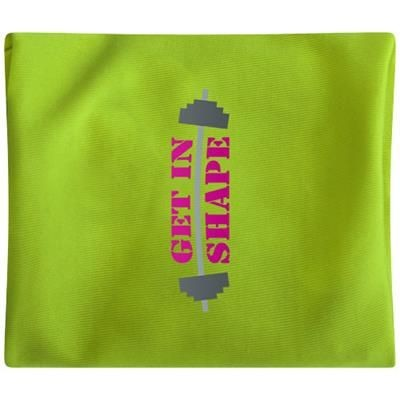 Picture of SQUAT WRIST BAND with Zippered Pocket in Lime