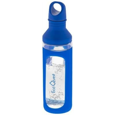 Picture of HOVER 590 ML GLASS SPORTS BOTTLE in Blue-transparent