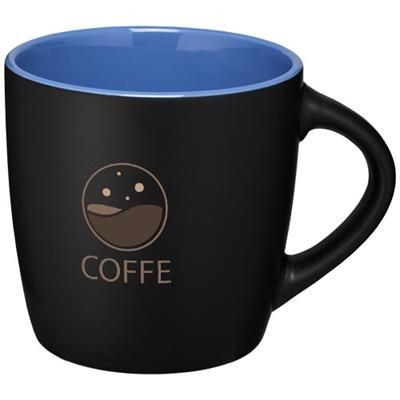 Picture of RIVIERA 340 ML CERAMIC POTTERY MUG in Black Solid-blue
