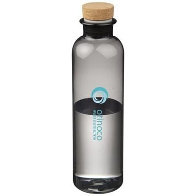 Picture of SPARROW 650 ML TRITAN SPORTS BOTTLE with Cork Lid in Clear Transparent Black