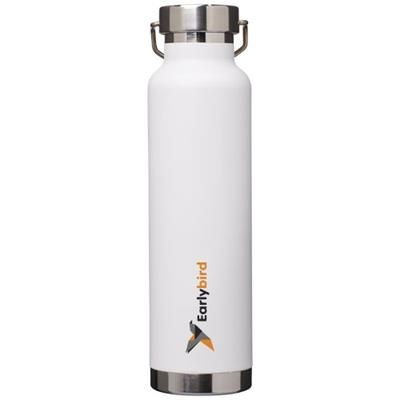 Picture of THOR 650 ML COPPER VACUUM THERMAL INSULATED SPORTS BOTTLE in White Solid