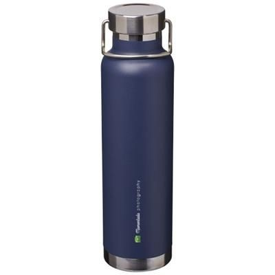 Picture of THOR 650 ML COPPER VACUUM THERMAL INSULATED SPORTS BOTTLE in Navy
